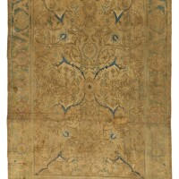 8. a 'polonaise' silk rug, isphahan or kashan, central persia