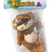 174. star wars ewoks quiron wicket bagged plush toy, 1986