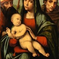 2. francesco francia and his studiozola predosa 1447/1450 - 1517 bologna | virgin and child with san petronio and saint francis