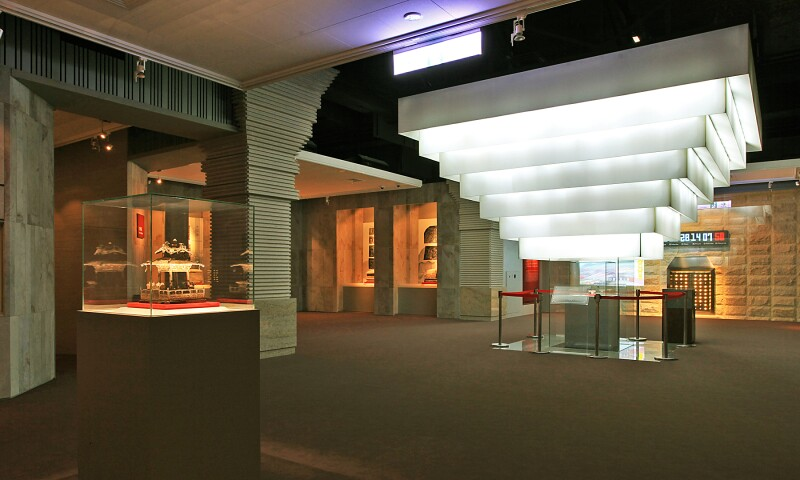 Interior view of the Fo Guang Shan Buddha Museum in Kaohsiung.