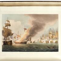 42. jenkins. naval achievements of great britain, 1817; martial achievements, 1815, 2 vol. (not uniform), coloured plates