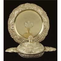 3. a royal german silver equelle with cover and stand, georg drewes, hanover, circa 1841 date letter h