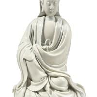 3647. a dehua figure of guanyin signed he chaozong, late ming dynasty