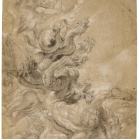 22. school of sir peter paul rubens   st. michael slaying the dragon, after rubens' woman of the apocalypse