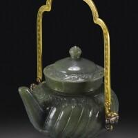 143. 清十八/十九世紀 痕都斯坦式碧玉酒壺