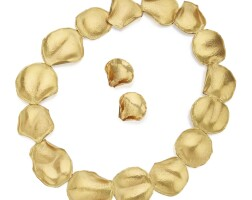 527. gold 'rose petal' necklace and pair of earclips, angela cummings for tiffany & co.