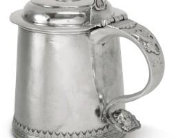 4002. a rare american silver tankard, koenraet ten eyck, albany, ny, circa 1710