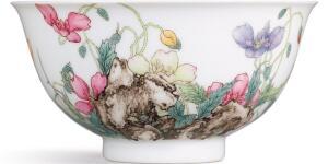 The Exquisite Qianlong Falangcai Porcelain 'Poppy' Bowl