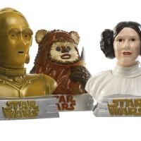 168. three star wars cookie jars, star limited, 1997