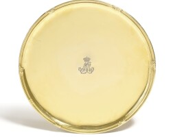 451. a silver-gilt salver, late 18th/ early 19th century