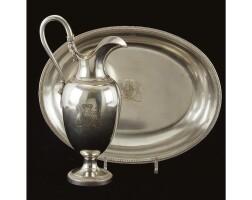 7. a royal german silver ewer and basin, maker's mark lh, berlin, 1825