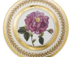 45. a russian porcelain plate, yusupov manufactory, archangel'skoe, 1827