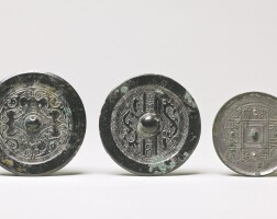 111. three bronze mirrors with inscriptions han dynasty