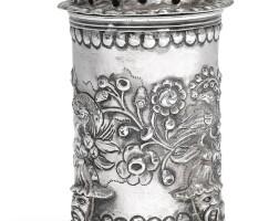301. a dutch silver caster, jacobus hulstman, leiden, 1695 |