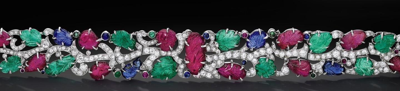 Tutti Frutti bracelet by Cartier in an auction selling Cartier bracelets
