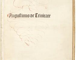 53. st augustine, de trinitate, basel, amerbach, 1489, later vellum