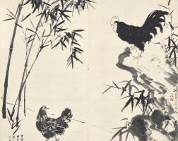 1210. xu beihong (1895-1953), gao jianfu (1879-1951), fang rending (1901-1975), bao shaoyou (1892-1985)   alliance to fight darkness