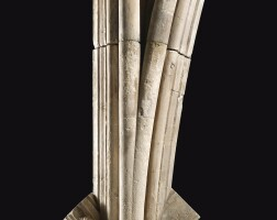 3012. a caen limestone principal springer mullion from the south window of canterbury cathedral canterbury, kent, england, 1428-1433  