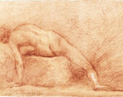 326. francesco montelatici, called cecco bravo   a male nude, leaning to one side