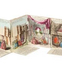 4. [almanach]. la nouvelle omphale, 1786. leporello in-12, broché, entièrement gravé et colorié à l'époque.