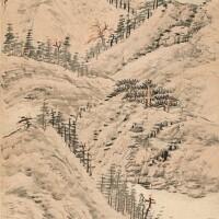2601. 王學浩 1745 - 1832 | 楓林夕照