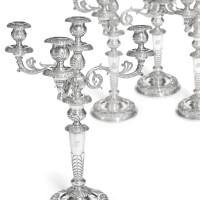 434. a set of four large silver candelabra, jantzen, st petersburg, 1831-1832