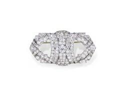 19. diamond brooch, 1930s