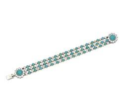 5. turquoise and diamond bracelet