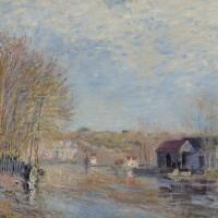 10. 阿爾弗雷德・希斯里 | 《盧萬河畔莫雷鎮的水面》