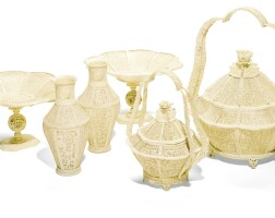 329. a group of canton carved ivory vessels qing dynasty, 19th century