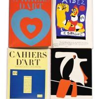 10. cahiers d'art. collection complète (1926-1960). 96 volumes. nombreuses lithographies de miro, etc.