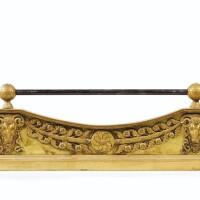 720. barre de foyer en bronze doré d'époque restauration