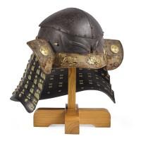 3. a rare okitenugui kabuto[helmet] momoyama period, late 16th century signed kishu uji ju nagahisa |