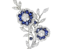 26. sapphire and diamond brooch, 1960s