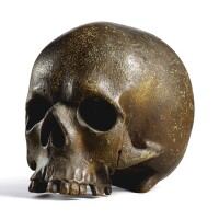 3008. a carved wood memento mori skull germany, 16th century |