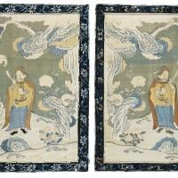 11. a pair of kesi panels qing dynasty, qianlong period