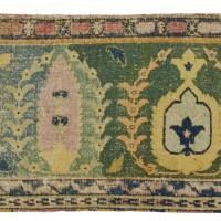 35. a mughal carpet border fragment, lahore, india
