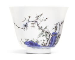 10. a wucai 'prunus' month cup kangxi mark and period |