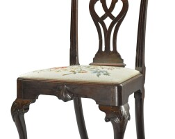 6032. fine chippendale carved mahogany side chair, philadelphia, circa 1770