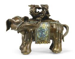 1. a cloisonne enamel bronze elephant qing dynasty, kangxi period