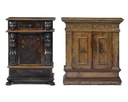 3. two italian carved walnut credenzas 16th/17th century and later