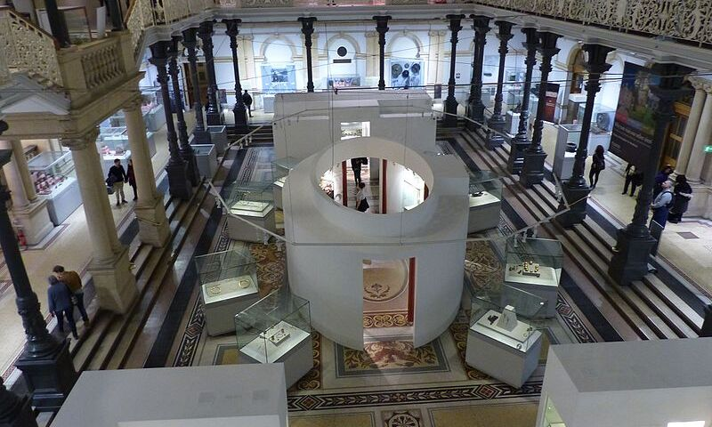 Interior view of the Kildare Street branch of the National Museum of Ireland
