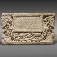 44. a roman marble cinerary urn inscribed for titus helvus iaso, 2nd half of the 1st century a.d./early 2nd century a.d.   a roman marble cinerary urn inscribed for titus helvus iaso