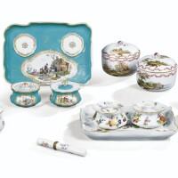 42. ensemble de porcelaines de meissen, berlin et allemandes des xviiie et xixe siècles