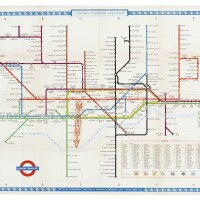 35. beck, lewis, a collection of 3 large london transportation maps, [1951]