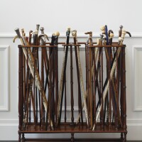 1164A. a group of assorted walking canes and walking sticks, late 18th-early 20th centuries