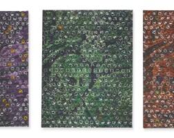 178. matteo callegari (b. 1979) | unicom, please purple, 2012; unicom, please orange, 2012; unicom, please orange, 2012 [three works]