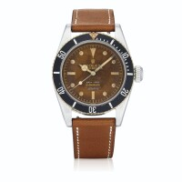 210. 勞力士(rolex) | 6538型號「'four line big crown' submariner」精鋼腕錶,年份約1959。