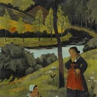 144. paul sérusier | deux bretonnes au bord de l'aulne