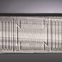 48. a roman marble strigillated sarcophagus, roman imperial, 3rd/4th century a.d.   a roman marble strigillated sarcophagus